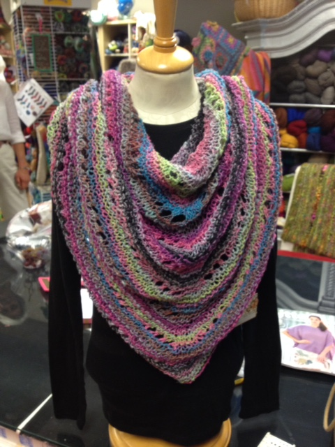 Noro Triangle Garter shawl